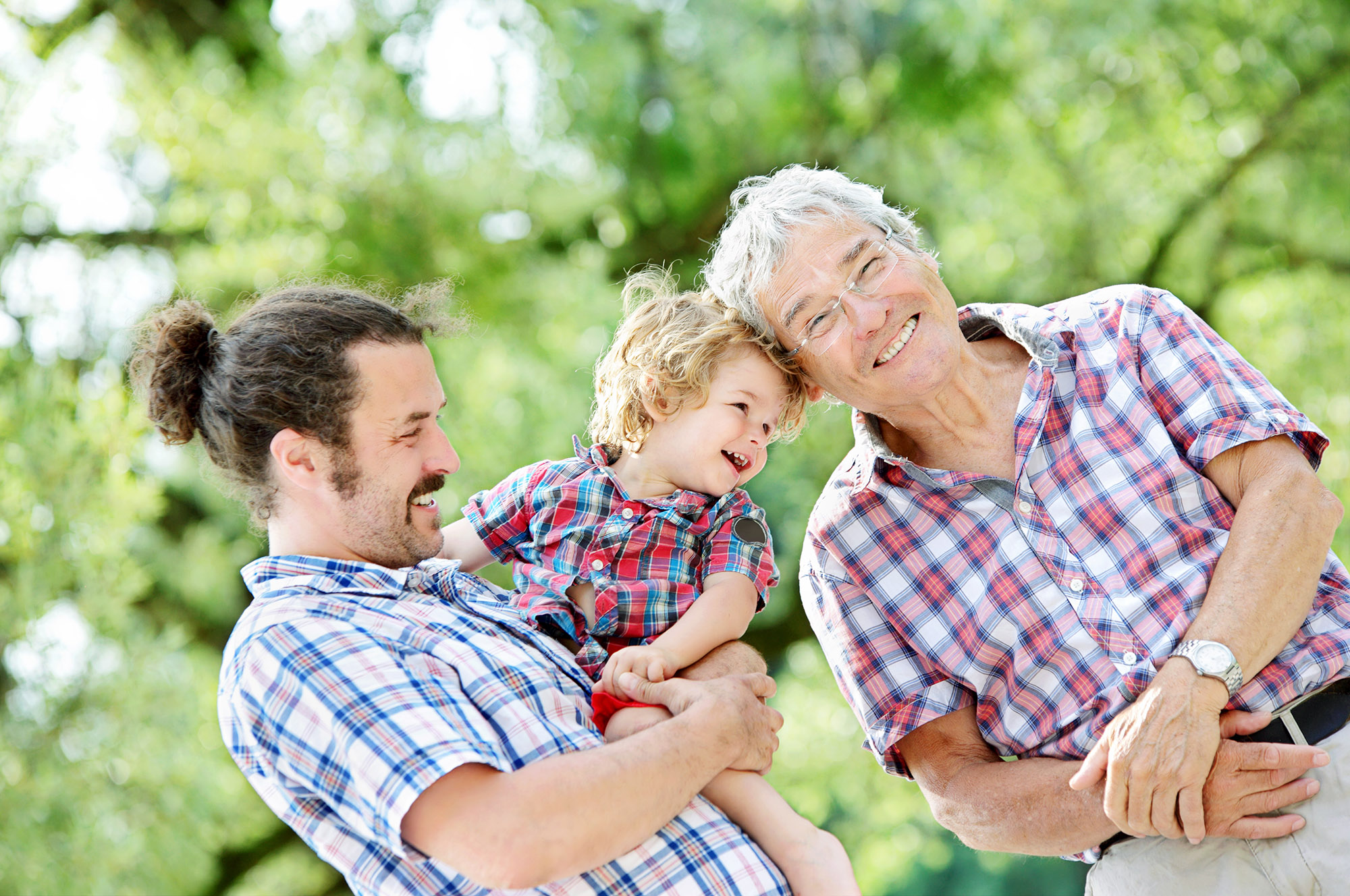 Family Generations: Father, son and Granddad