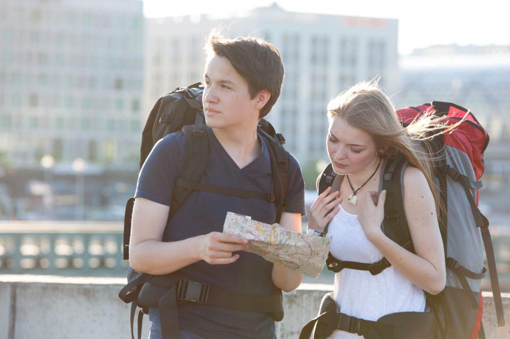 Teenagers Traveling